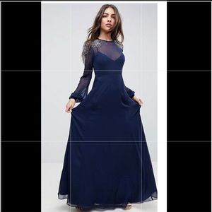 ASOS Long Sleeve Gown